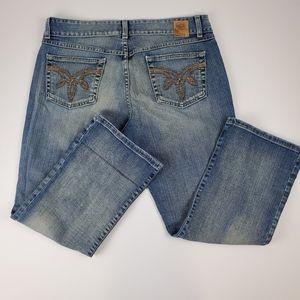 BKE Vintage Look Distressed Look Crop Jeans
